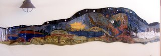 11 foot mural for Kemp Natural Resources Station by Joan Slack
